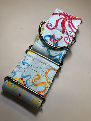 Octopus Light Blue Martingale