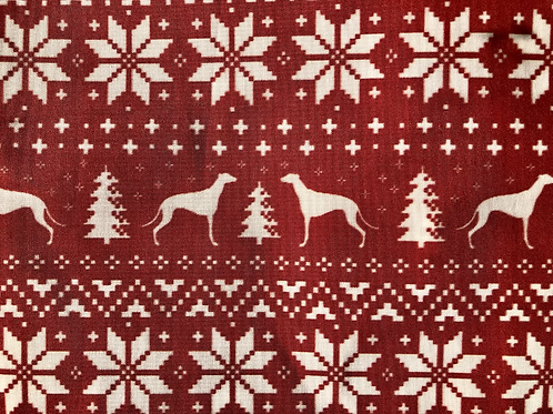 Greyhound Christmas collar SKU 0039