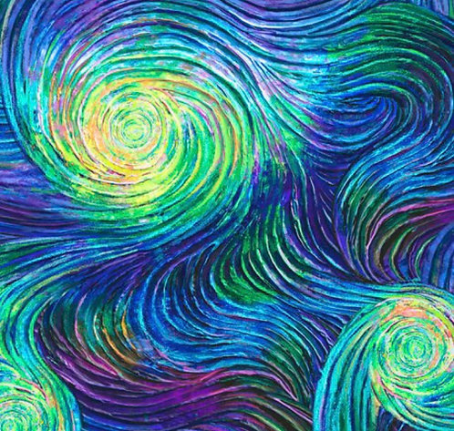 Swirling colors martingale