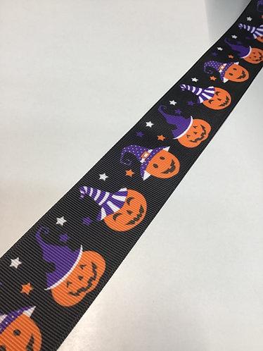 Purple hat pumpkin collar