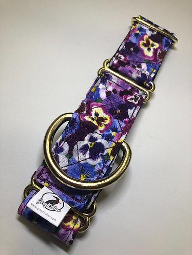 """Purple pansy and gold martingale  1.5"""""""