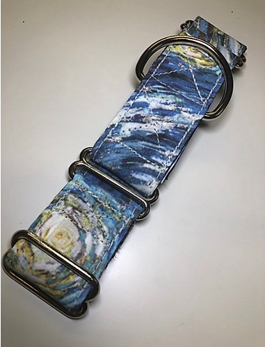 Starry night leash and collar