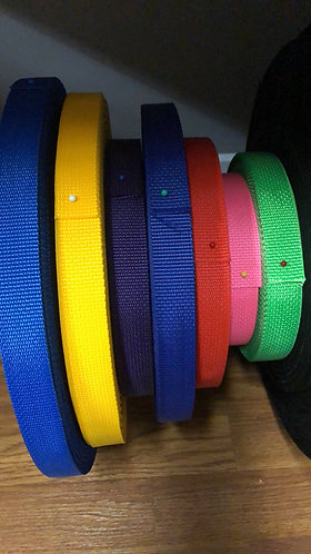 """1"""" tag collars with embroidery"""