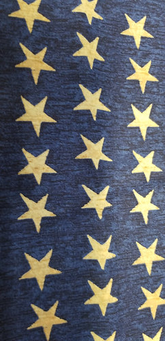 Blue with Gold Stars Martingale