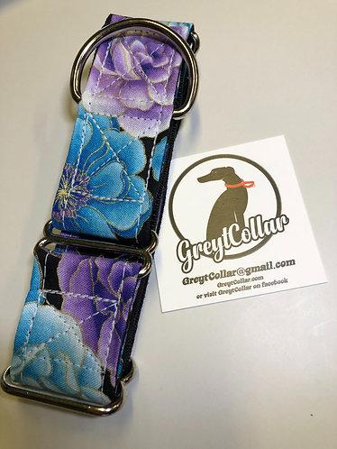 Purple floral martingale