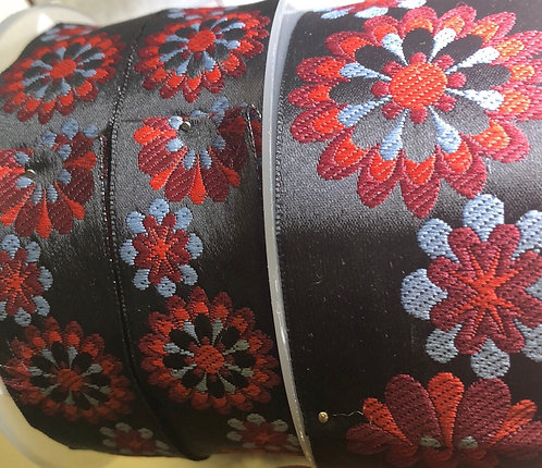 Red woven/embroidered martingale