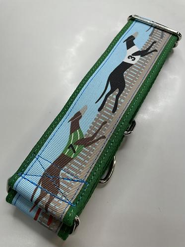 Exclusive Greytcollar greyhound running collar with Swarovski