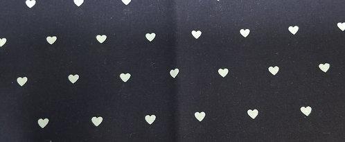 Black Green Hearts Martingale