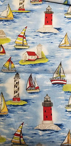 Sailboats and Lighthouses Martingale