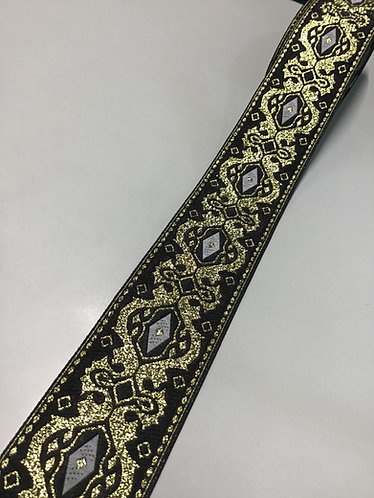 Fancy black and gold collar