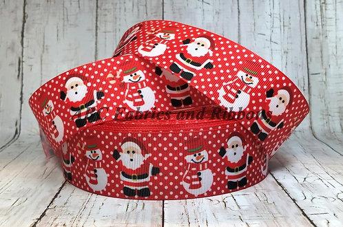 "1.5"" Santa and snowman martingale"