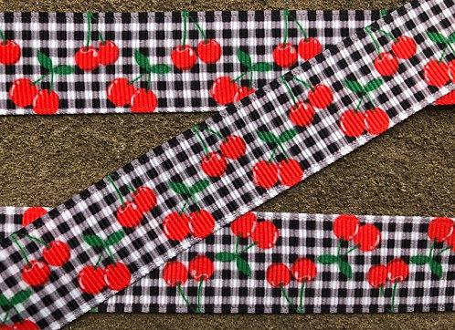 Plaid cherry collar