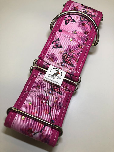 "2"" pink wrapped Swarovski pink butterfly"