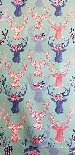 Pink and Purple Deer Head Martingale