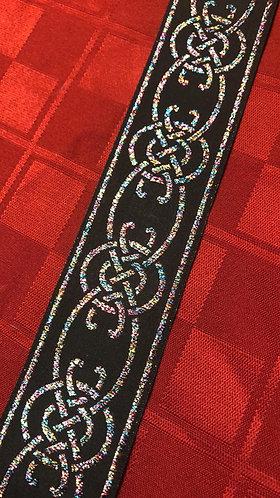 "Multi color Celtic knot set  1"" large and 1""x6' leash"
