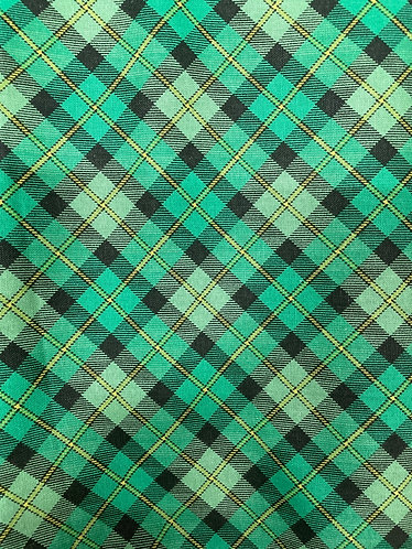 Green plaid collar SKU 0117