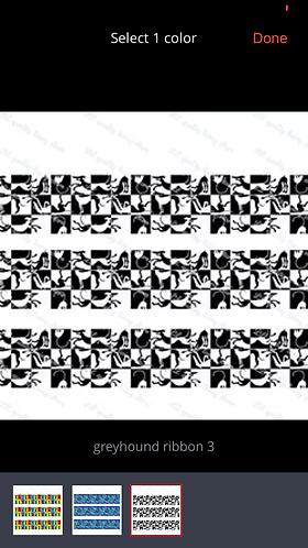 Black and white greyhound martingale