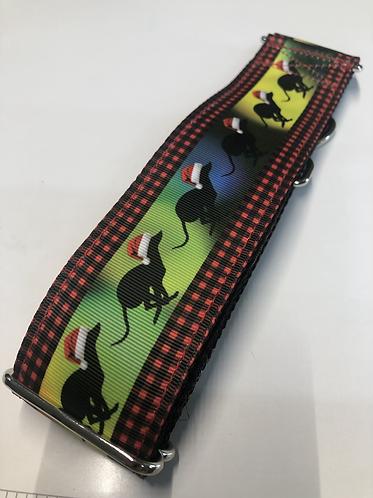 Christmas greyhound collar