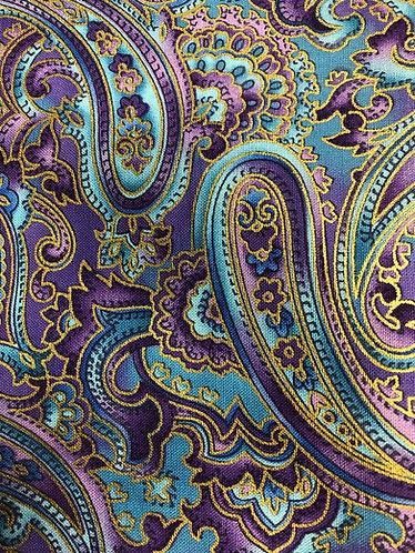 Purple paisley with Swarovski crystals medium 1.5