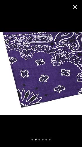 Purple bandanna collar