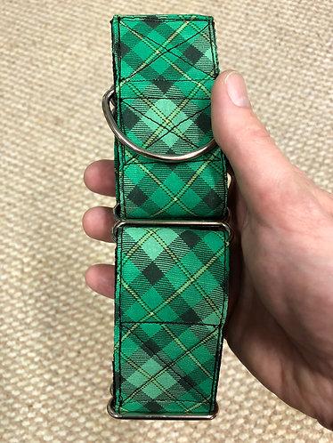 Green plaid martingale
