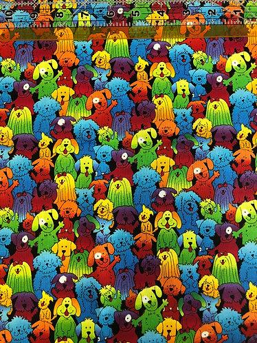 Colorful doggies martingale
