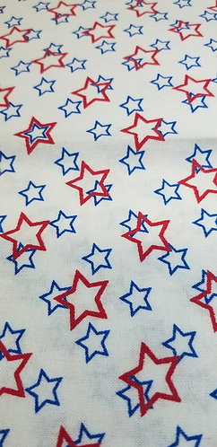 Patriotic Red Blue Stars Martingale