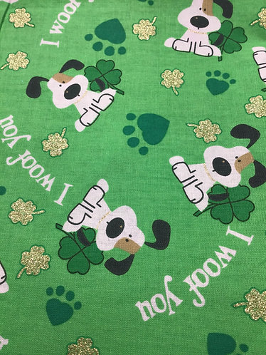 St Patrick's day I woof you collar