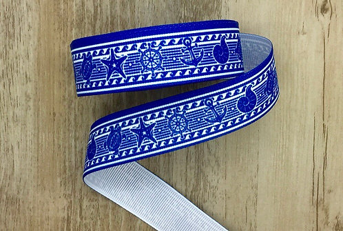 Blue nautical martingale