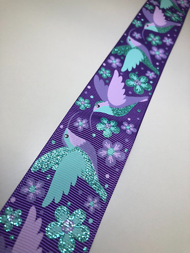 "1.5"" purple hummingbird with Swarovski"