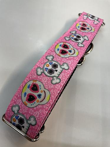 Pink sugar skull collar