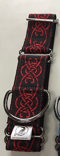 Red and Black Celtic collar