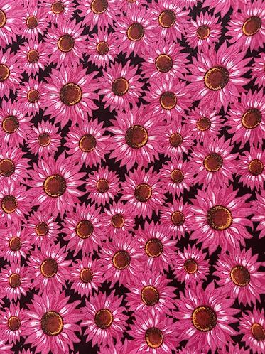Pink daisy collar