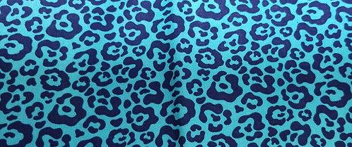 Blue Leopard Print Martingale