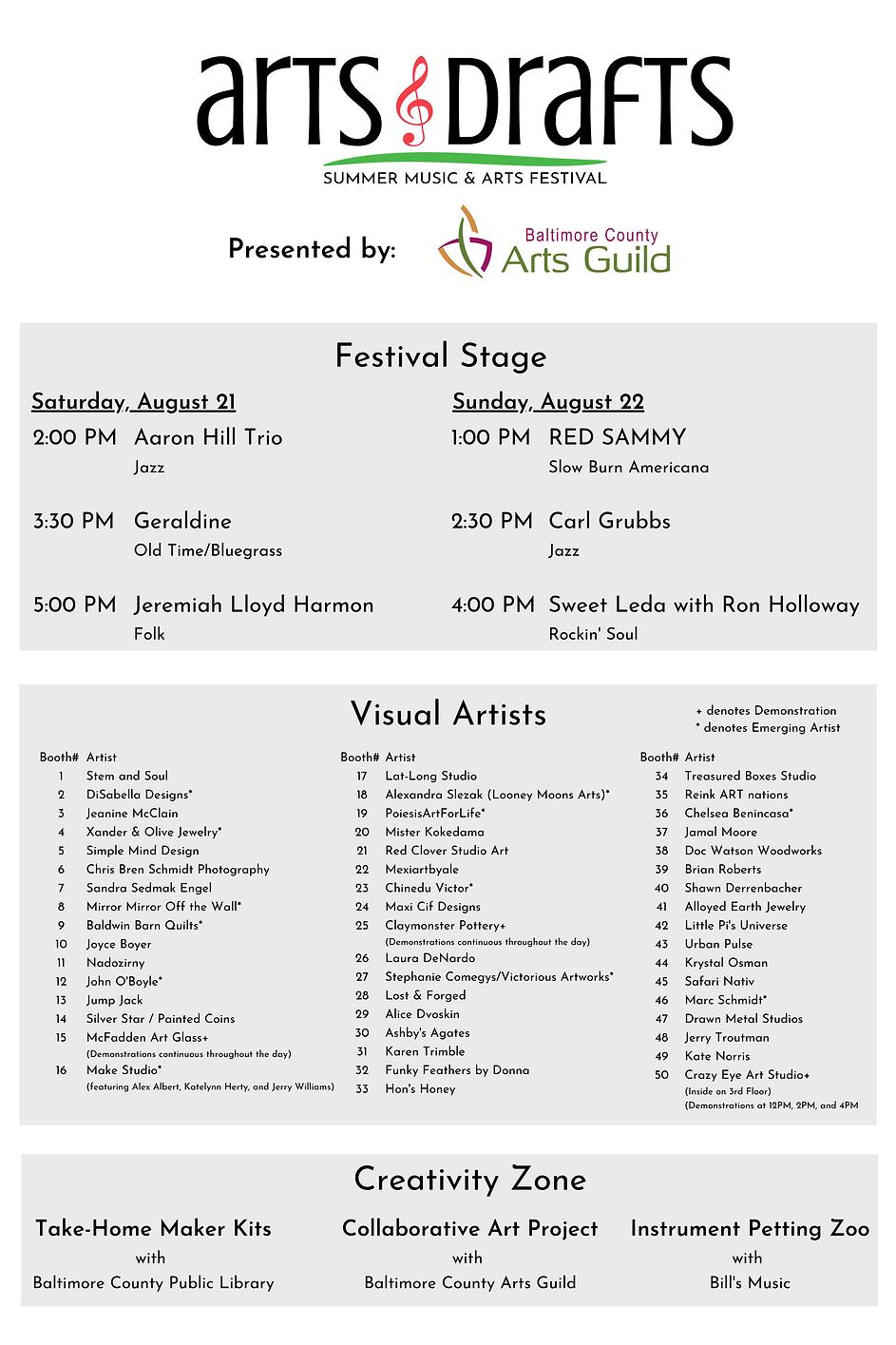 Arts & Drafts Festival Program.png
