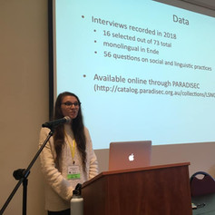 Presenting on sociophonetic variation in Ende at NWAV48 in Eugene, Oregon (USA).
