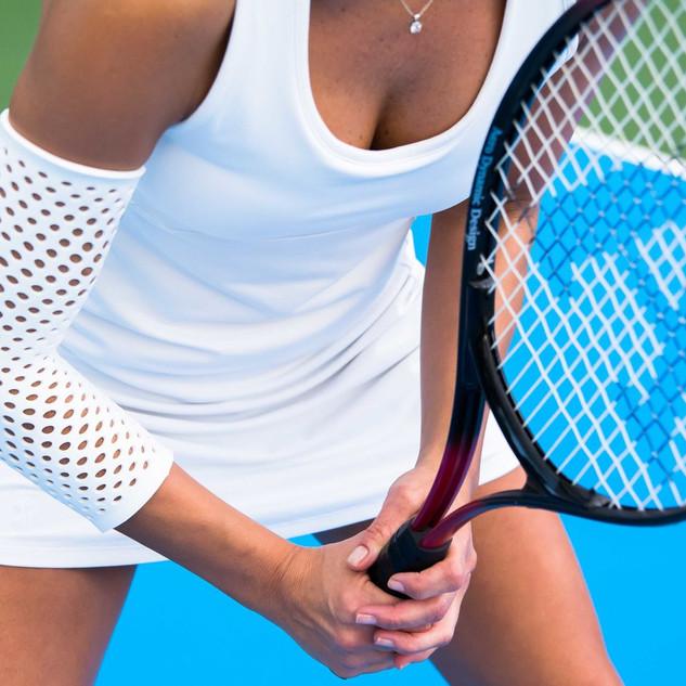 扭邊得治彈性繃帶-網狀-手肘-網球