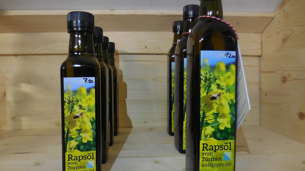 Kaltgepresstes Rapsöl aus Hombrechtikon 250 ml.