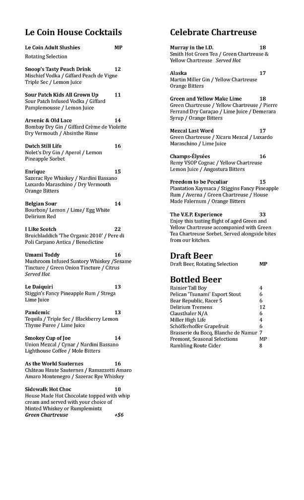 New Cocktail Liquor List Update 3_17_21