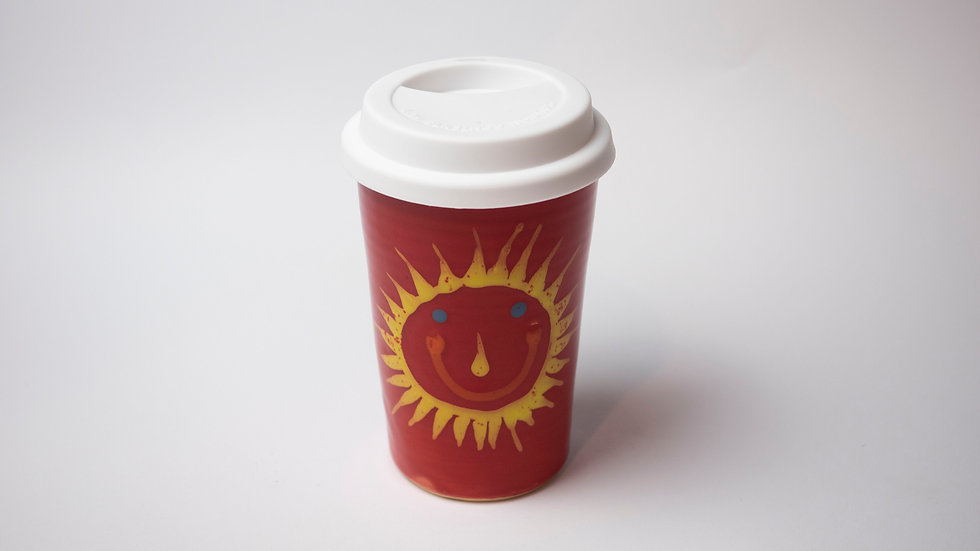 Coffee to go - Sonne / rot