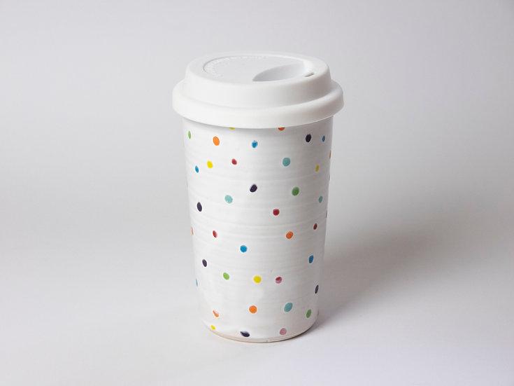 Coffee To Go - weiß gepunktet
