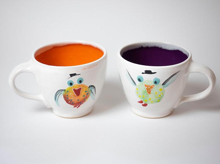 Zwei Minitassen - Vögel