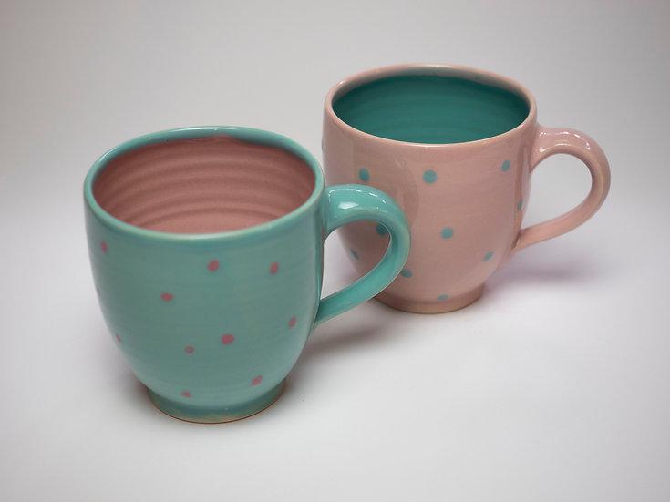 Set - 2 Tassen rosa / aquarius