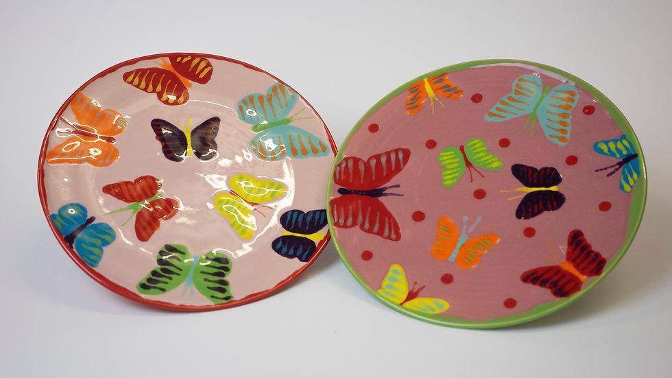 Teller - Schmetterlinge