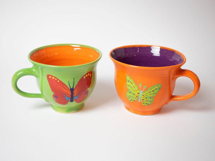 Set - 2 Tassen, Schmetterlinge