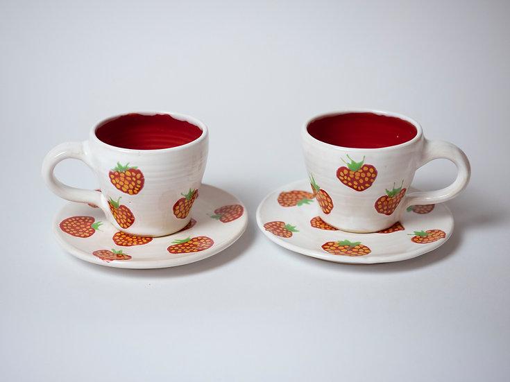 Espresso-Set, Erdbeeren