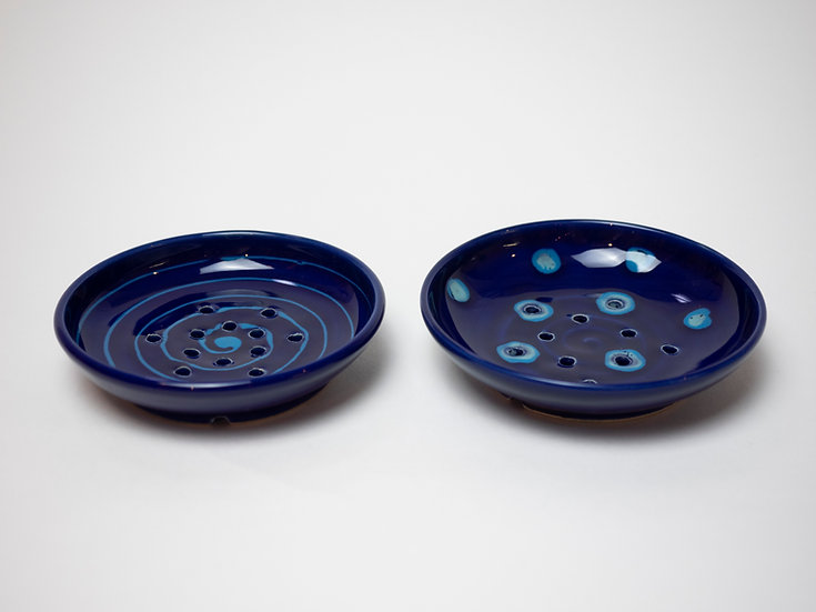 Zwei Seifenschälchen - dunkelblau