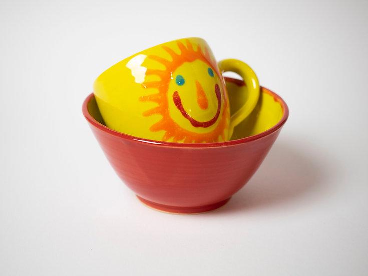 Set - Tasse & Schälchen, Sonne