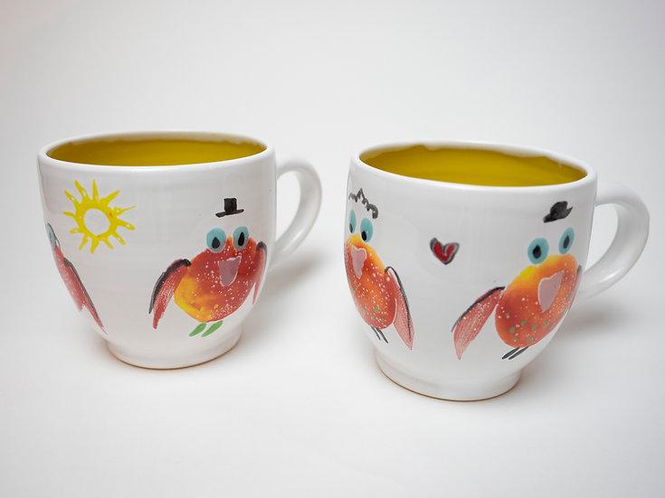 Zwei Tassen - Vögel (3)