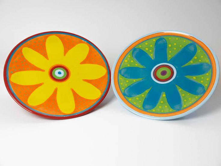 Set - Zwei Teller mit Blume